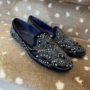 Vaneli Black Studded Flats. EUC